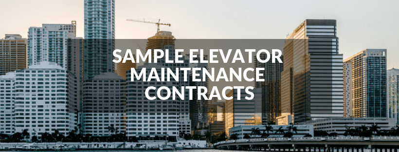 Sample Elevator Maintenance Contracts