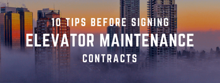 10 Tips for Elevator Maintenance Contracts