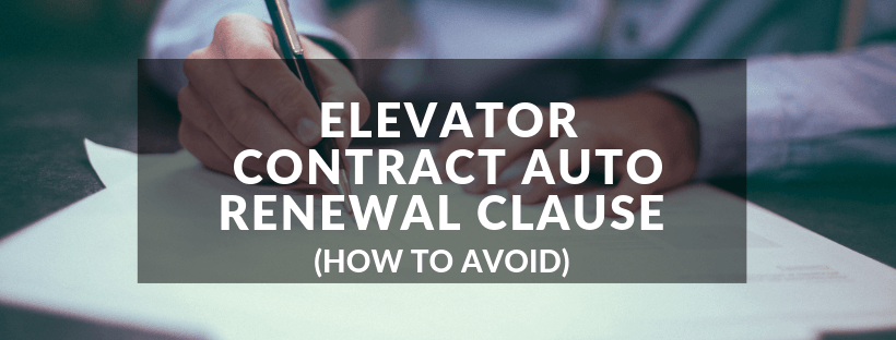 Elevator Contract Auto Renewal