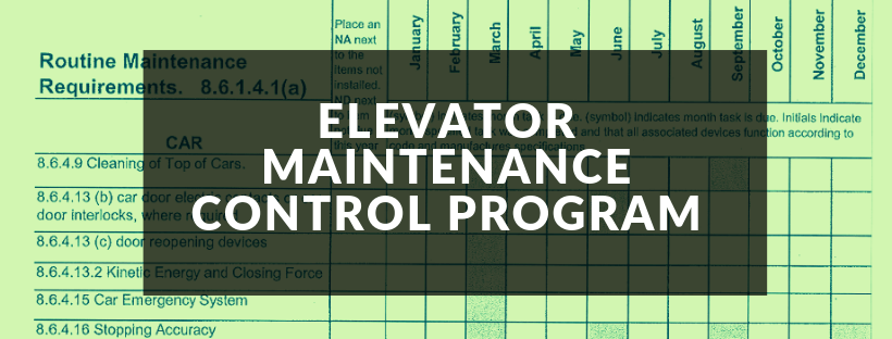 Elevator Maintenance Control Program