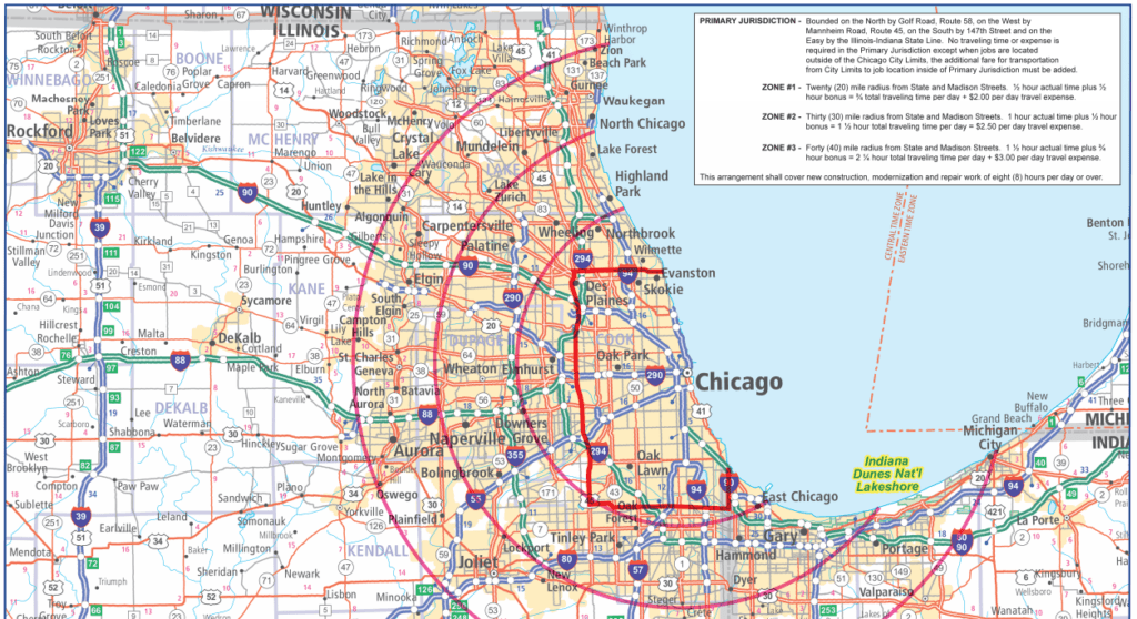 Chicago Elevator Pay Zone Map